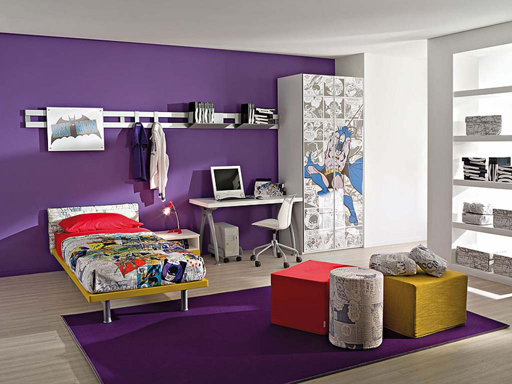 nice-boys-room-decorating-ideas-with-superhero-batman-theme-good-picture-designs-purple-design-color-wall-design-good-picture