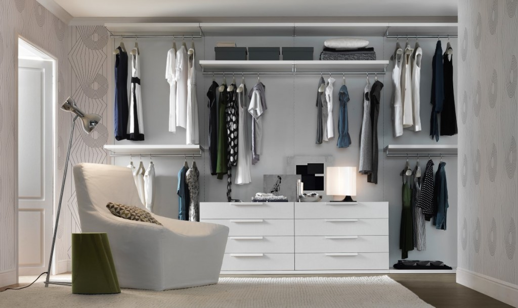 cozy-and-serene-modern-minimalist-walk-in-closet-decors-ideas-presenting-compact-hanging-organizers-and-idyllic-white-lounge-chair-feat-chrome-standing-lamp-forhow-to-make-walk-in-closet-ideas-how-to