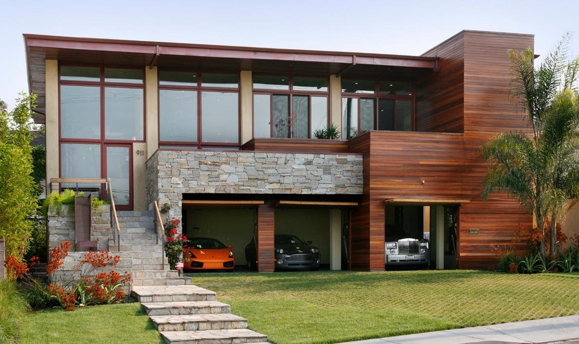 garage-door-opened-modern-style