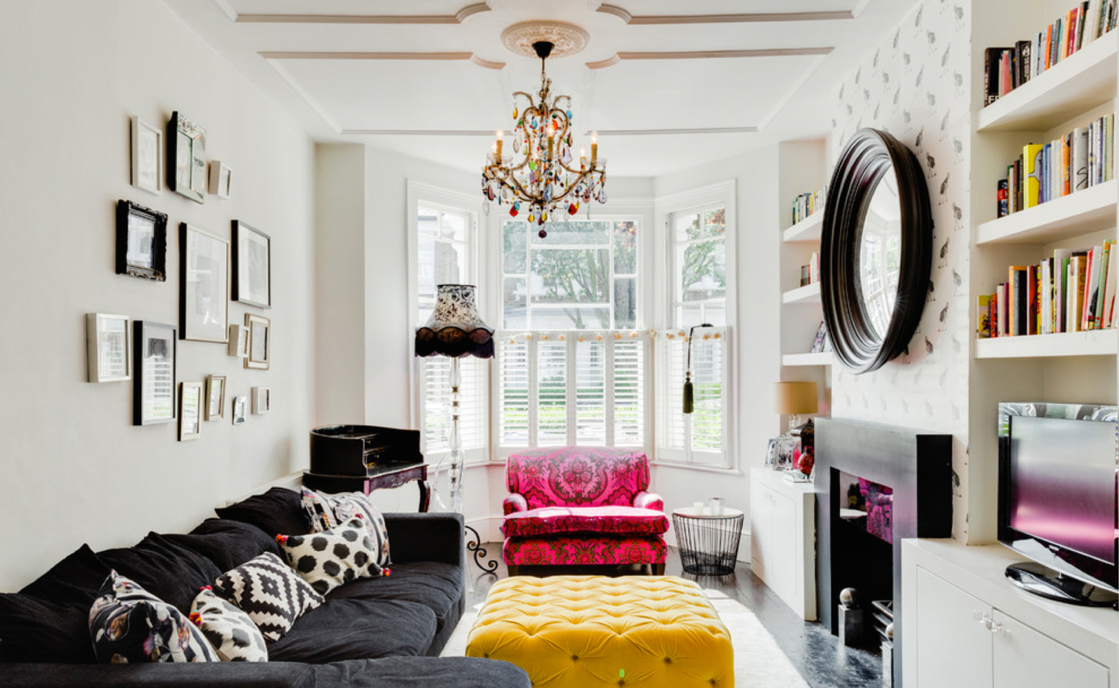 Lola-Black-Grain-Decorative-Convex-Mirror-Honey-Bee-Interiors_