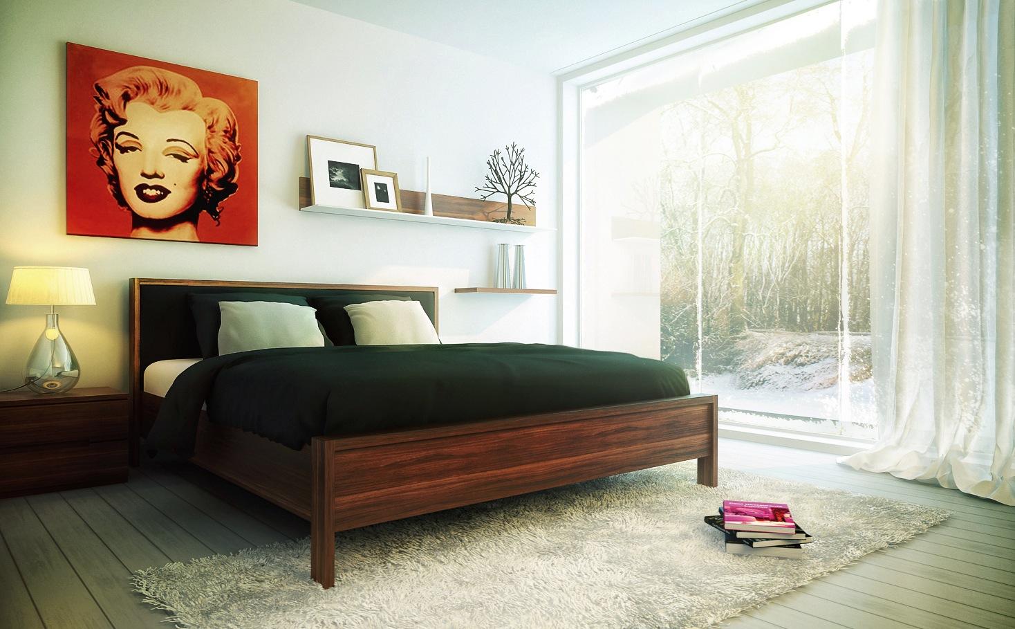 Understated-bedroom-decor-pop-art